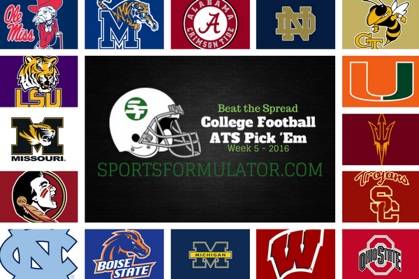 college-football-pick-em-beat-the-spread-week-5-2016