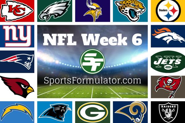 NFL Pick 'Em Week 6 - 2017 - SportsFormulator